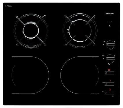 Bếp hỗn hợp Gas + Từ Brandt TI1013B.Black nhập khẩu từ Pháp