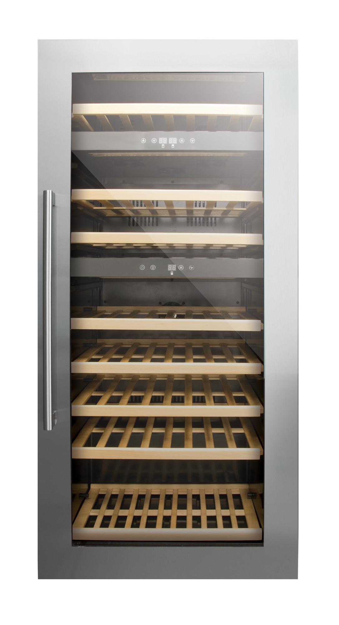 Tủ rượu vang Nodor V 61B có dung tích 61 chai rượu