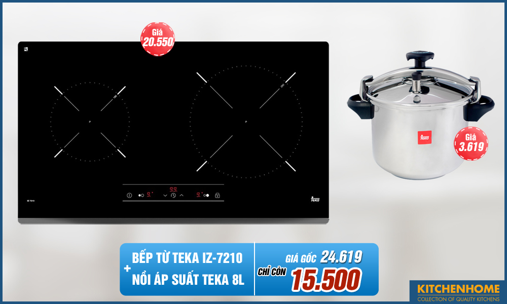 Combo Bếp từ Teka IZ 7210 + Nồi Áp Suất Teka 8L