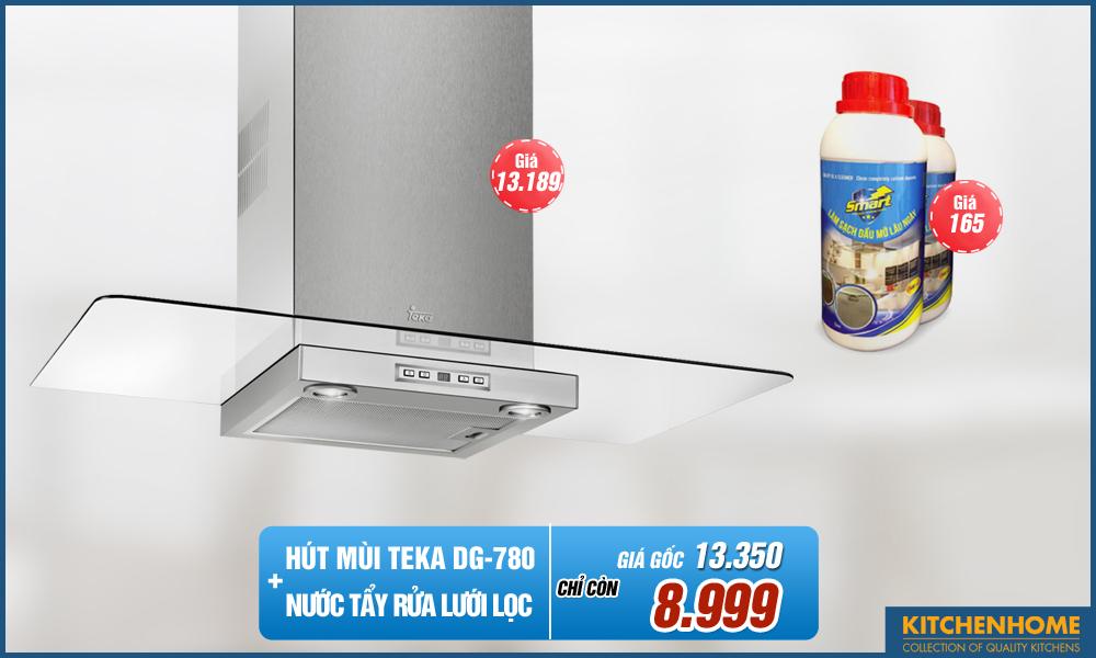 Combo Hút Mùi Teka DG 780 + Nước Tẩy Lưới Lọc Smart Cleaner