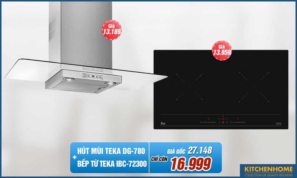 Combo Bếp từ Teka IBC-72300 + Hút Mùi Teka DG-780